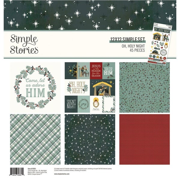 Simple Stories Oh, Holy Night Christmas - 12 x 12 Collection Kit