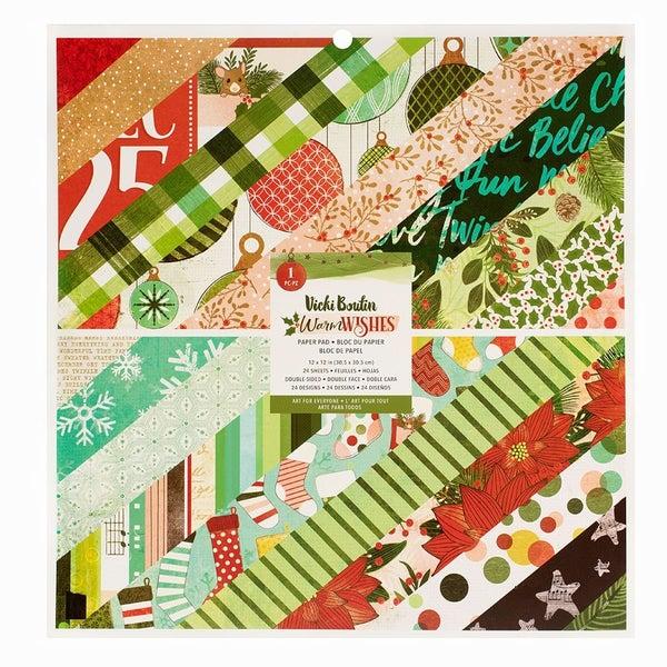 Vicki Boutin  Warm Wishes Christmas  12 x 12 Paper Pad