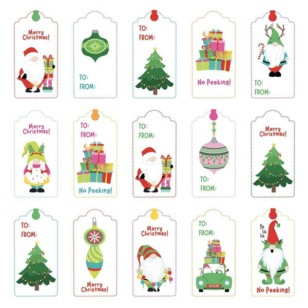 PhotoPlay Tulla and Norbert's Christmas Party Collection - 12 x 12 Double Sided Paper - Pre-Colored Die Cut Outs - Christmas Morning set of 3