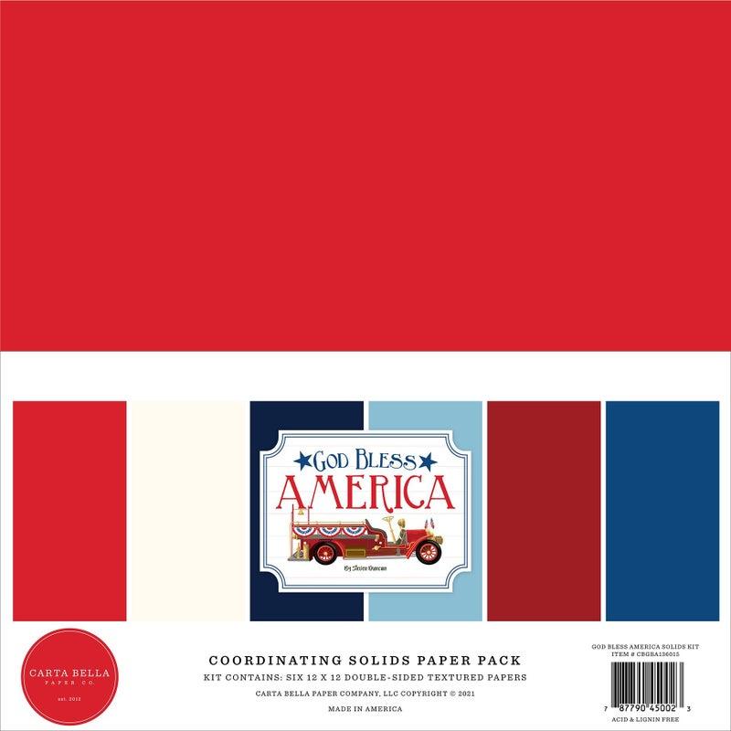 Carta Bella God Bless America 4 pc Happy Scrappy Bag