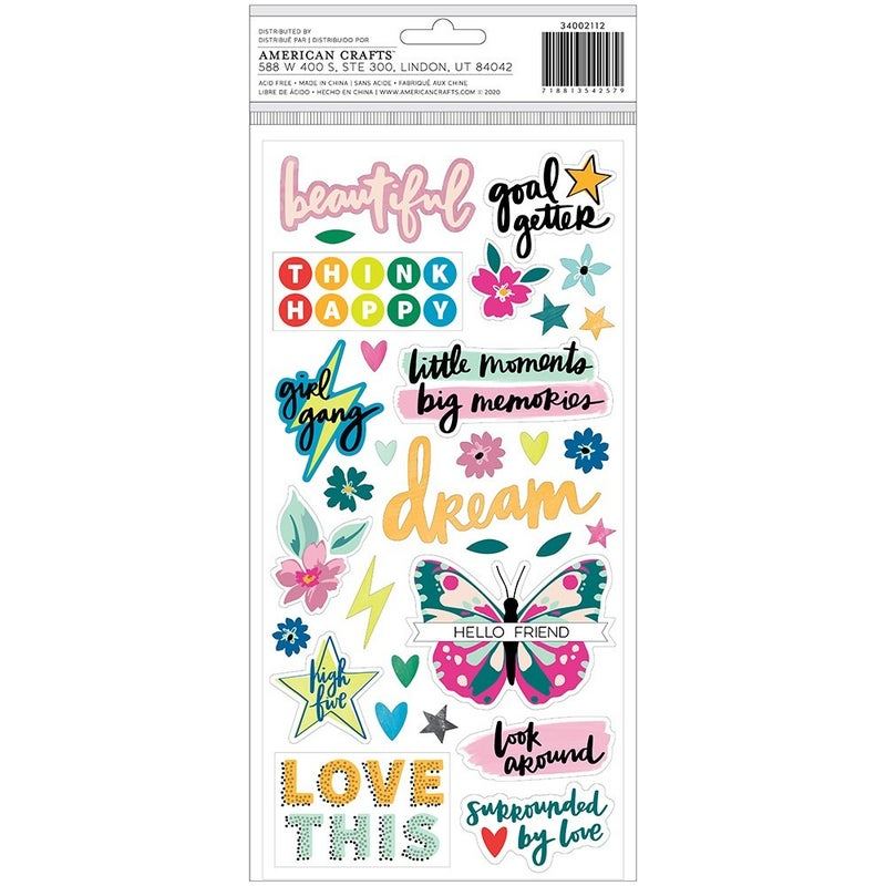 Amy Tangerine - Brave and Bold Thickers - Be Bold - Phrases - Foam