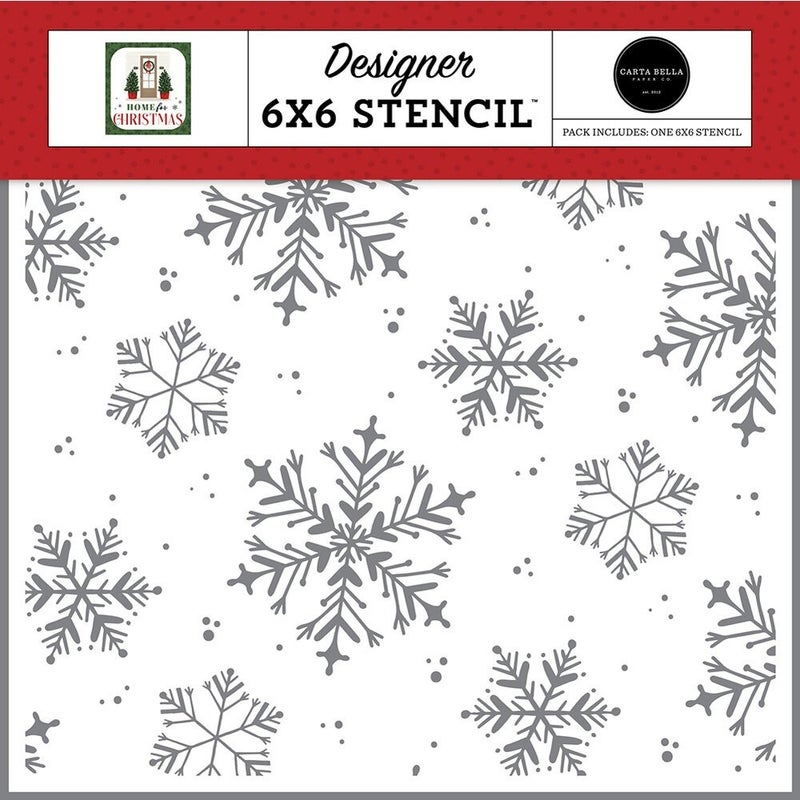 Carta Bella - Home For Christmas  6 x 6 Stencils - White Christmas