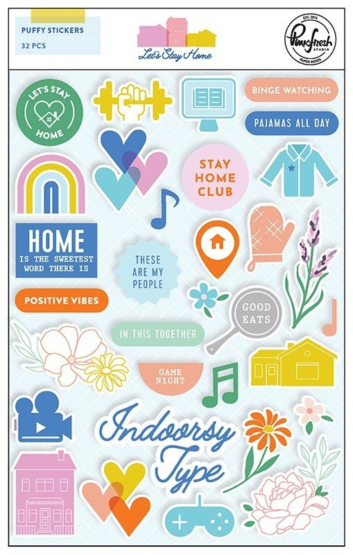 Pinkfresh Studio Let's Stay home 20 pc Happy Scrappy Bag