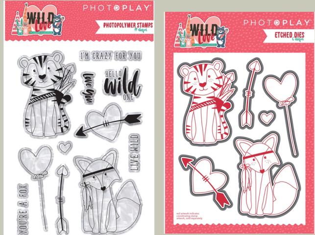 PhotoPlay WildLove Stamp and Die Set