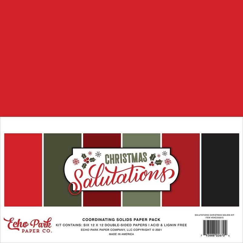 Echo Park Christmas Salutations 3 pc Happy Scrappy Bag