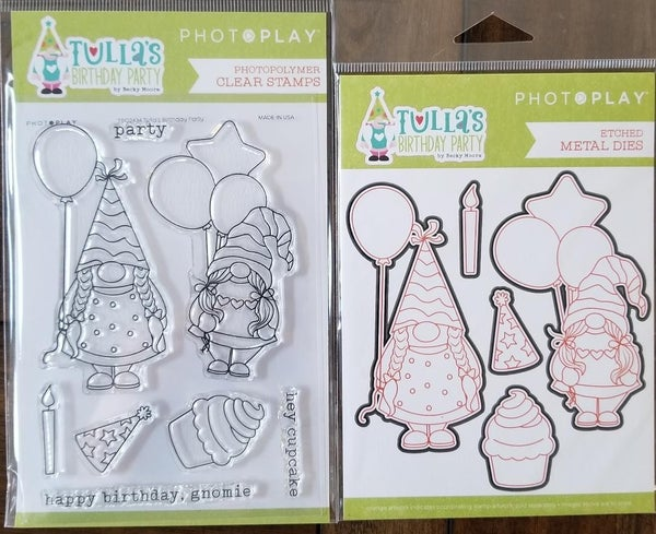 PhotoPlay Tulla's Birthday Party Stamp and Die Set