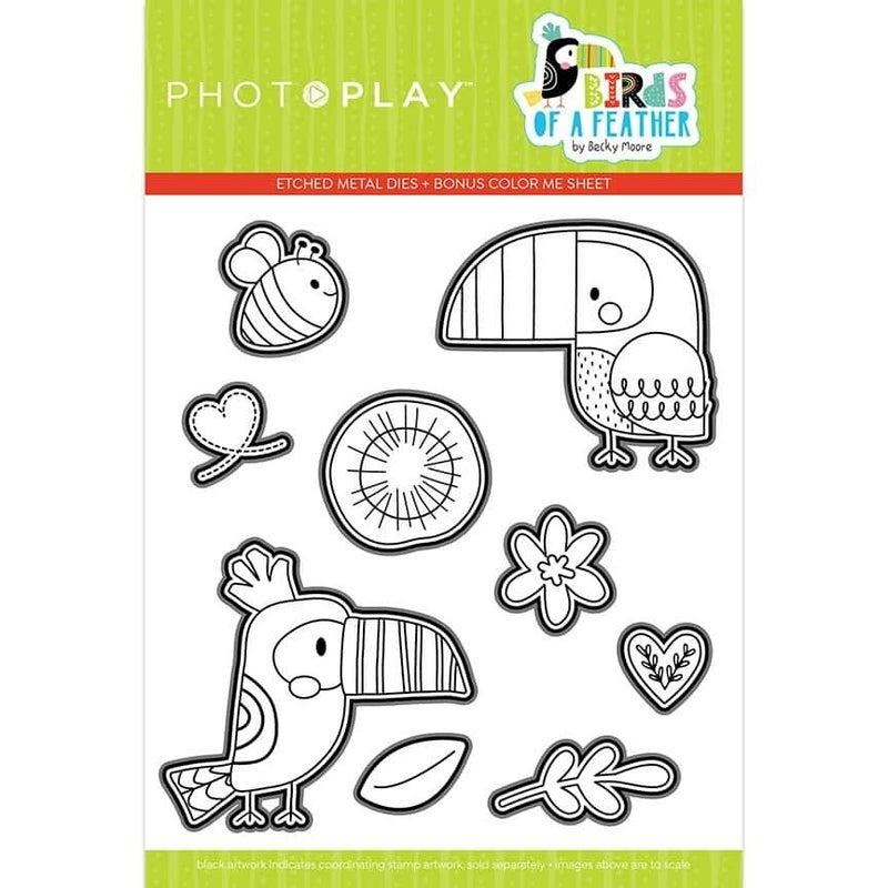 PhotoPlay Birds of a Feather Stamps and Dies