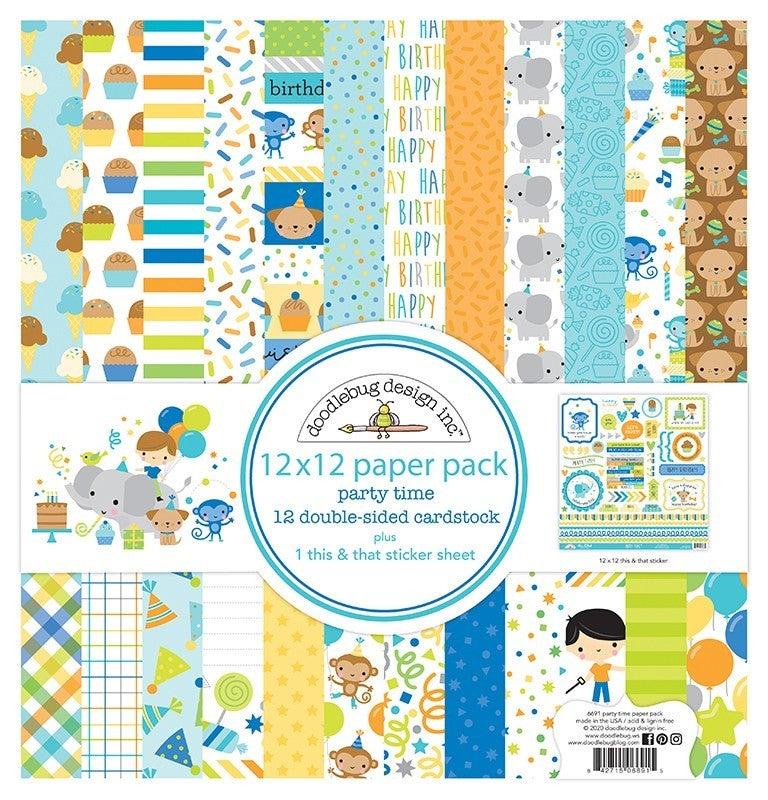 Doodlebug Design  Party Time 12 x 12 Paper Pack