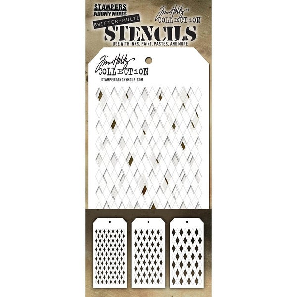 Stampers Anonymous Tim Holtz Layering Stencil Shifter Harlequin