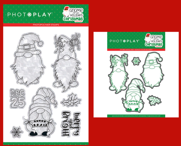 PhotoPlay Gnome for the Holidays Christmas Stamp and Die Set