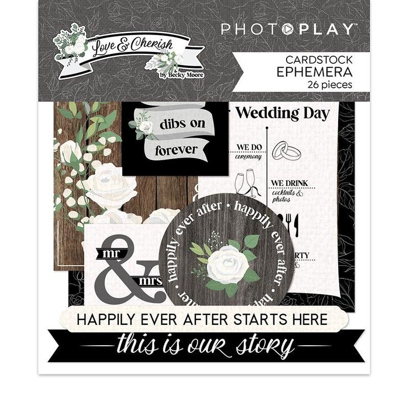 Photo Play Paper Love and Cherish 2 pc Happy Scrappy Bag