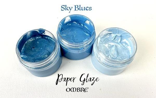 Picket Fence Studios Paper Glaze Ombre - Sky Blues