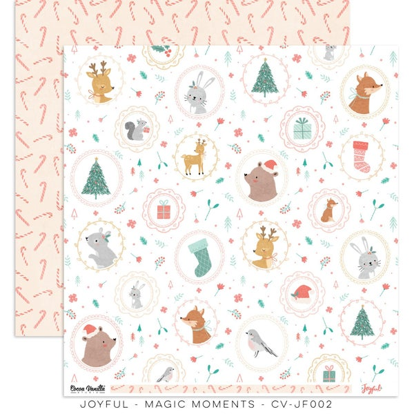 PRE ORDER Cocoa Vanilla Studio JOYFUL – MAGICAL MOMENTS  12 x 12 Cardstock