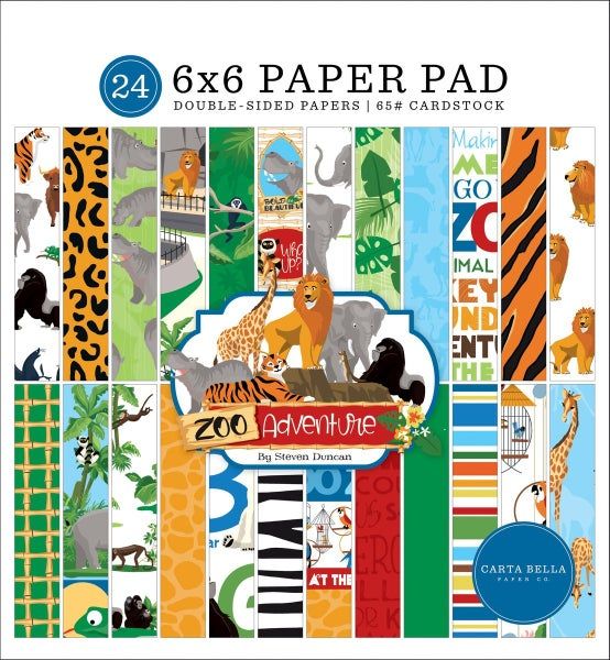 Carta Bella ZOO ADVENTURE 6X6 PAPER PAD