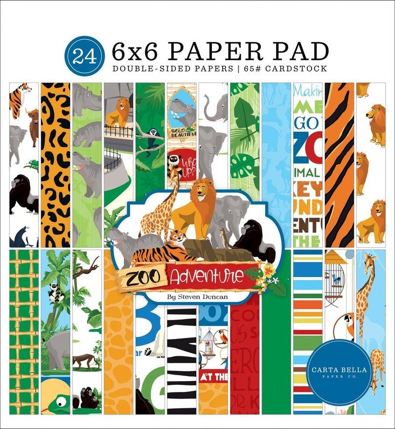 Carta Bella ZOO ADVENTURE 6X6 PAPER PAD