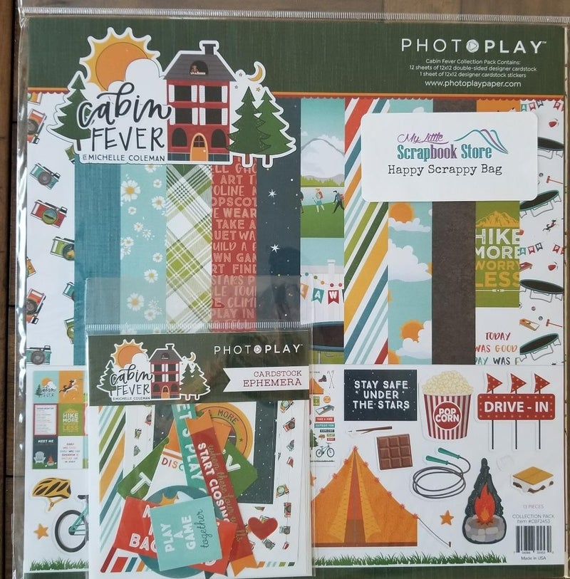 PhotoPlay Cabin Fever 2 Pc Happy Scrappy Bag