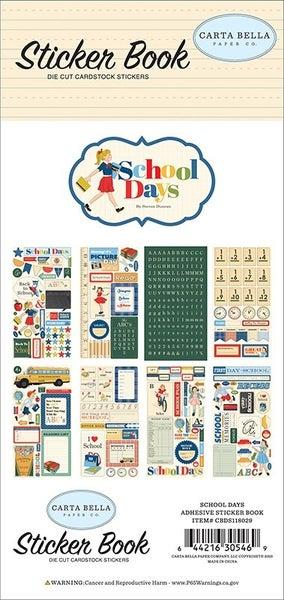 Carta Bella School Days Cardstock Sticker Book
