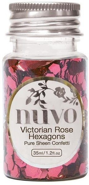Nuvo Confetti Victorian Rose Hexagons