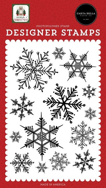 Carta Bella Home For Christmas Clear Photopolymer Stamps - Snowflake Season