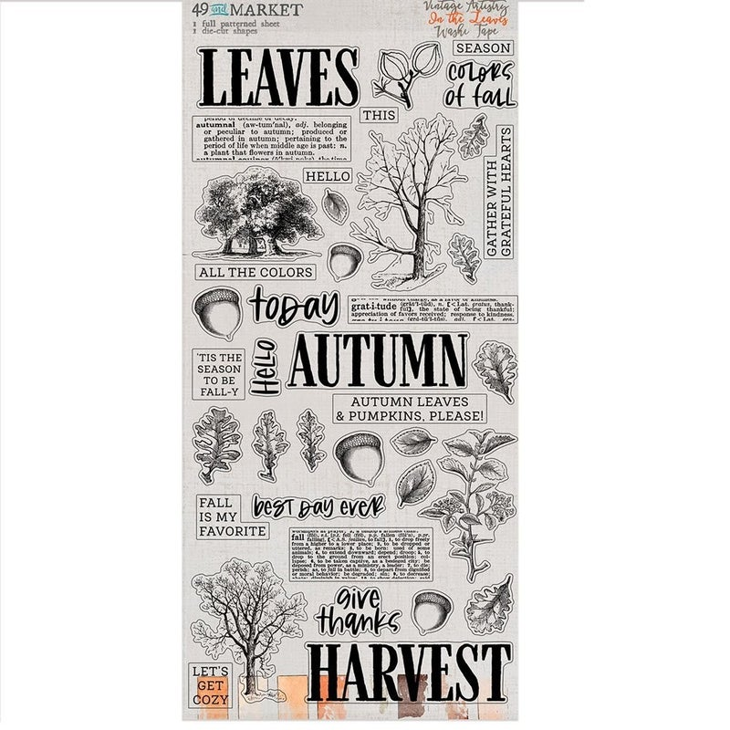 49 and Market  Vintage Artistry In The Leaves 6 pc Happy Scrappy Bag