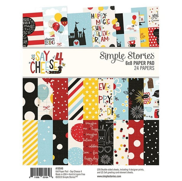 Simple Stories Say Cheese 4 Collection 6 x 8 Paper Pad