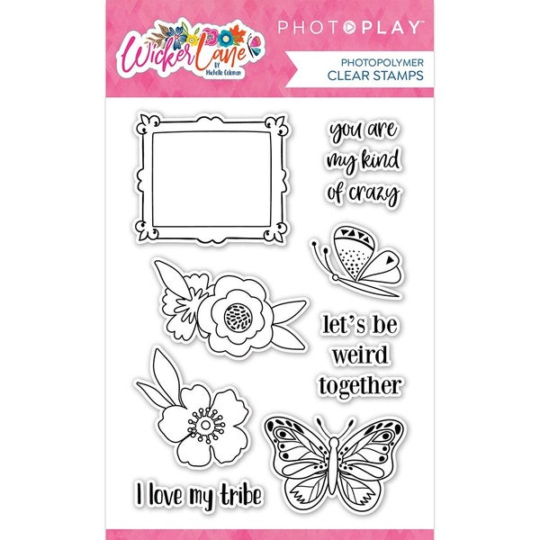 Photo Play Wicker Lane Clear Photopolymer Stamps