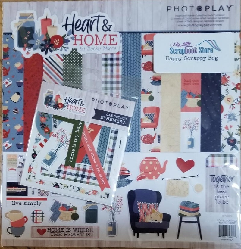 PhotoPlay Heart of Home Happy Scrappy Bag