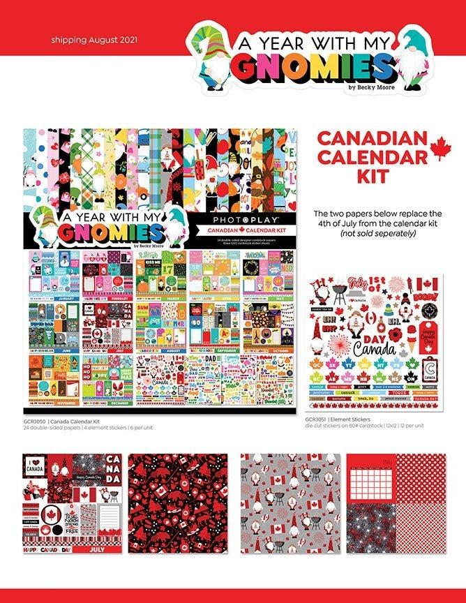 PhotoPlay Gnome Calendar  12 x 12 Canadian Calendar Kit