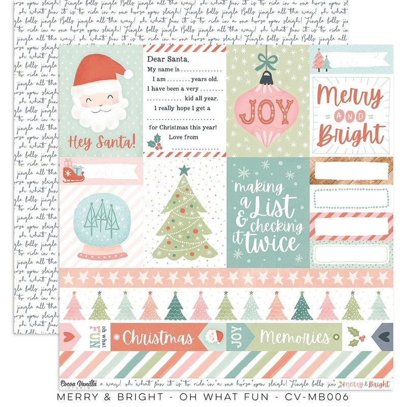 Cocoa Vanilla Studio Merry & Bright 12 x 12 Collection Kit
