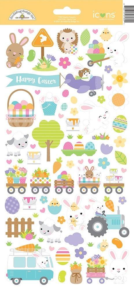 Doodlebug Design - Hippity Hoppity Cardstock Stickers  Icons