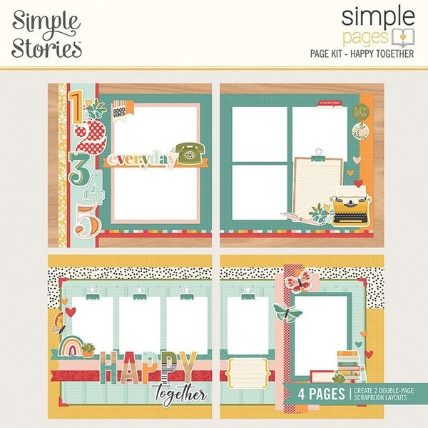 Simple Stories Happy Together Simple Pages Page Kit