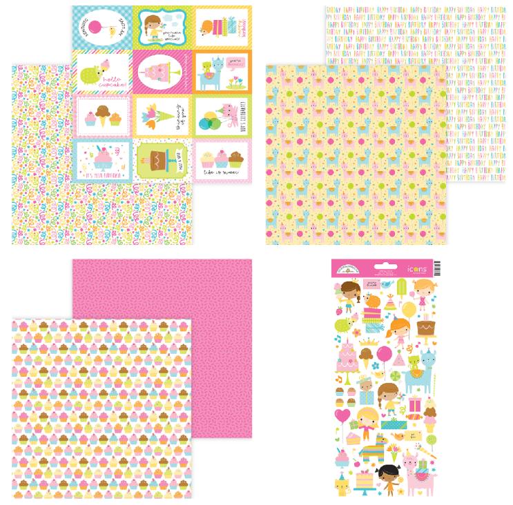 Doodlebug Design Hey Cupcake 7 pc set