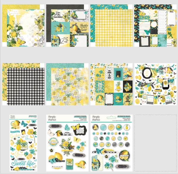 Simple Stories Simple Vintage Lemon Twist 18 pc Happy Scrappy Bag