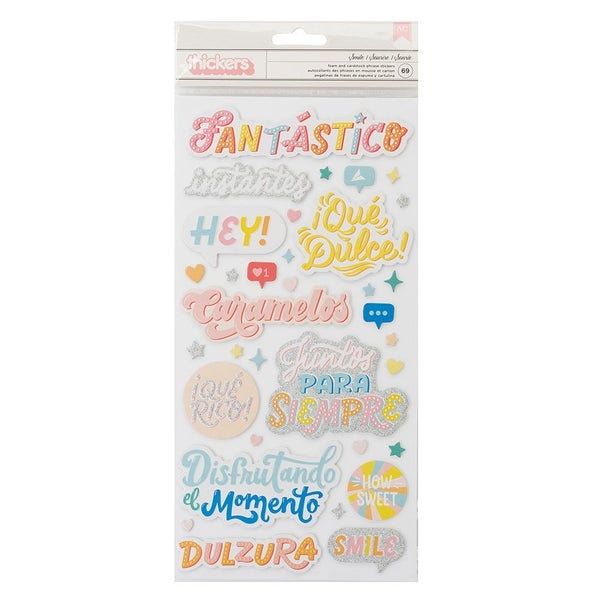 Obed Marshall Fantastico Thickers Phrases  Smile Matte Gold Foil Accents