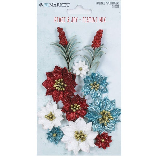 49 and Market - Vintage Artistry Peace and Joy Flowers Festive Mix