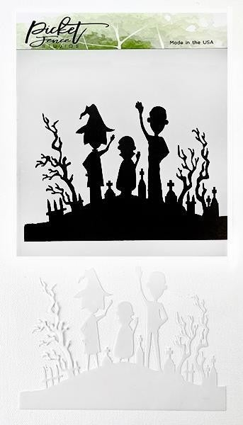 Picket Fence Studios Special Edition Be Spooky Together A2 Stencil