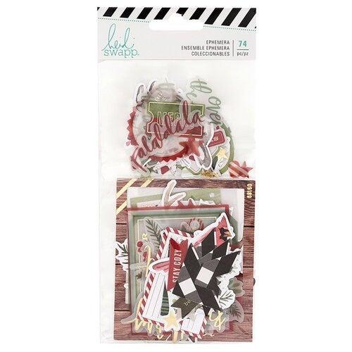 Heidi Swapp Winter Wonderland  Ephemera Pack with Gold Foil Accents
