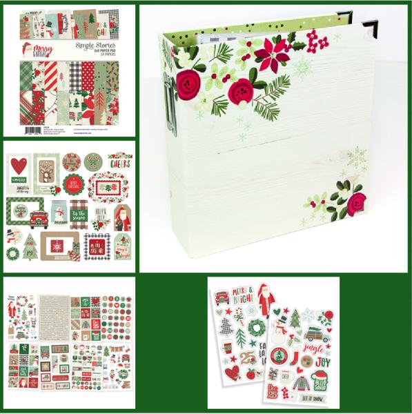 Simple Stories Merry & Bright Binder Set