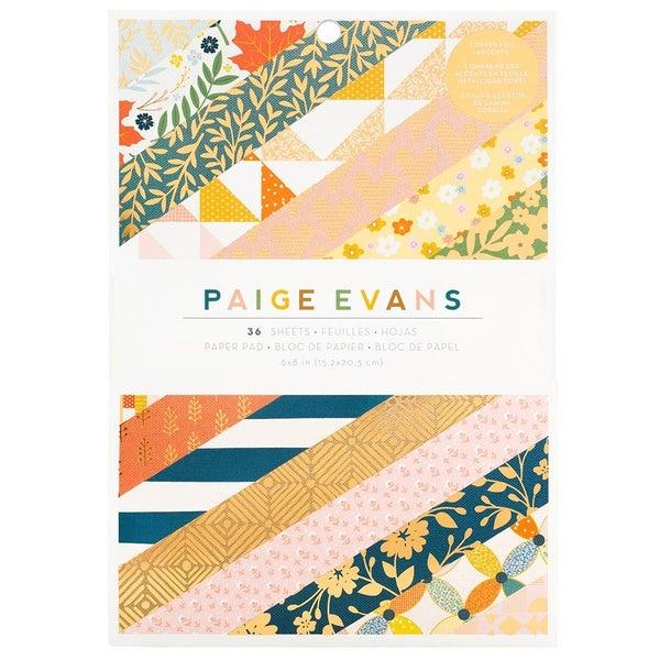 Paige Evans  Bungalow Lane  6 x 8 Paper Pad with Gold Foil Accents