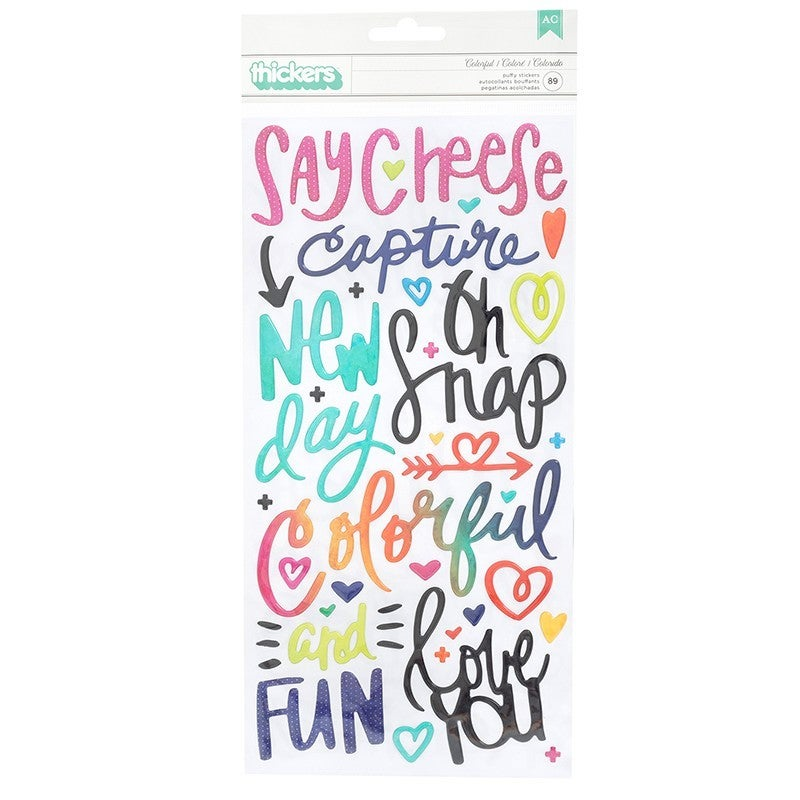 Vicki Boutin  Color Kaleidoscope Thickers Puffy -Phrases and Icons - Colorful