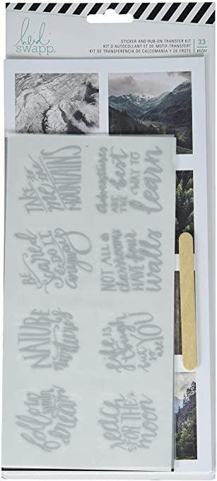 Heidi Swapp - Wolf Pack Sticker and Rub on Transfer Kit