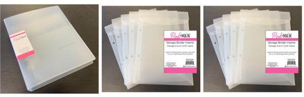 Pink & Main Storage Binder and 12 inserts
