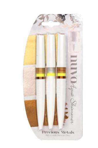 Nuvo Aqua Shimmer Pens- Precious Metals 3 Pack