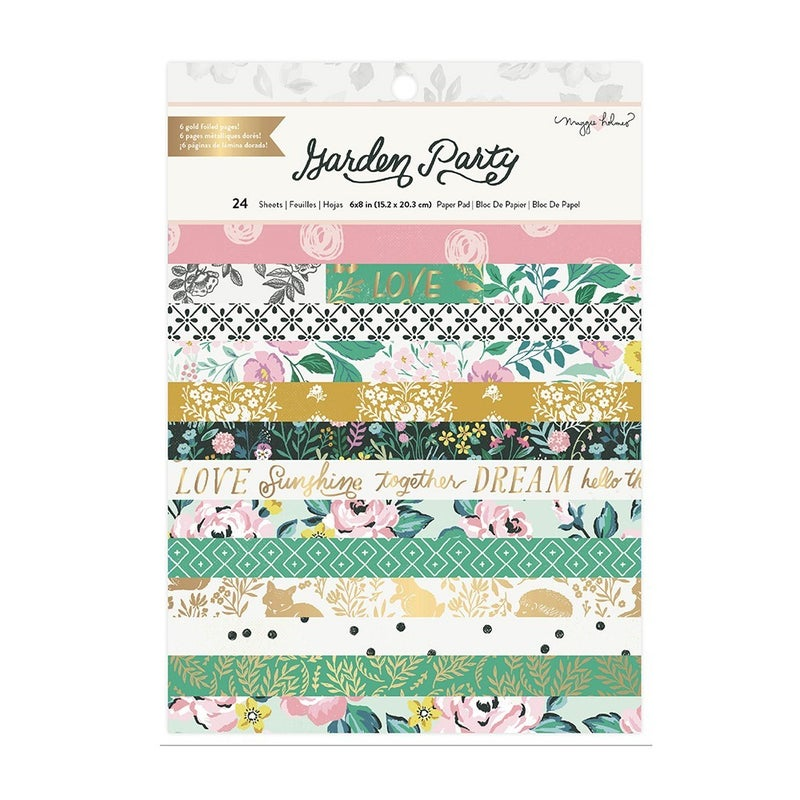 Maggie Holmes - Garden Party 6 x 8 Paper Pad with Gold Foil Accents