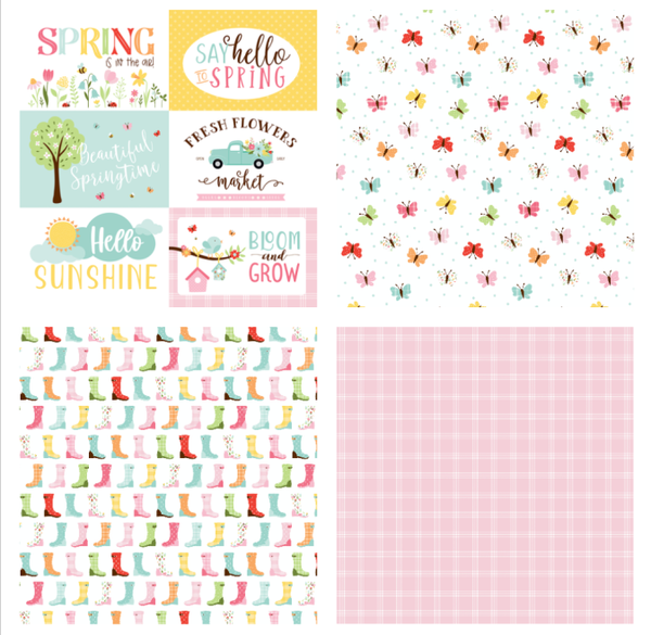 Echo Park Welcome Spring 4 pc set