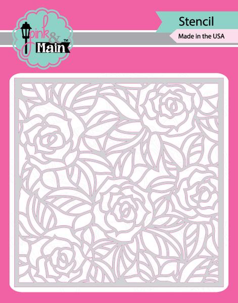 Pink & Main Memaw's Roses Stencil
