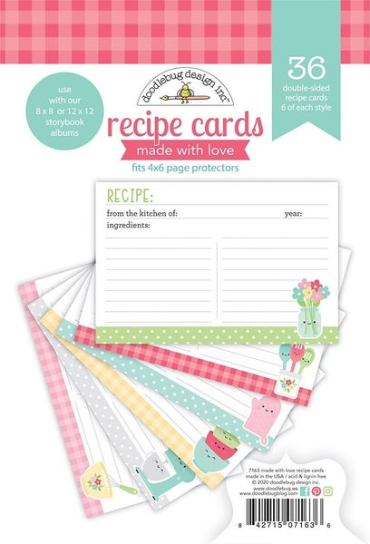 Doodlebug Design  Made With Love Recipe Cards