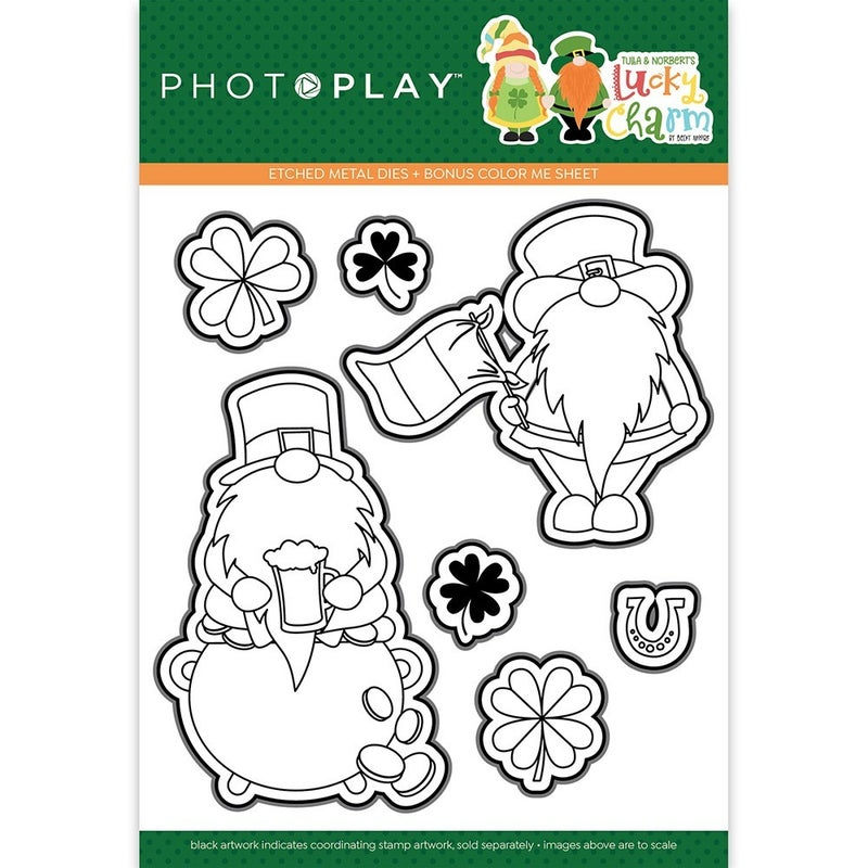 PhotoPlay Tulla & Norbert's Lucky Charm Stamps and Die Set