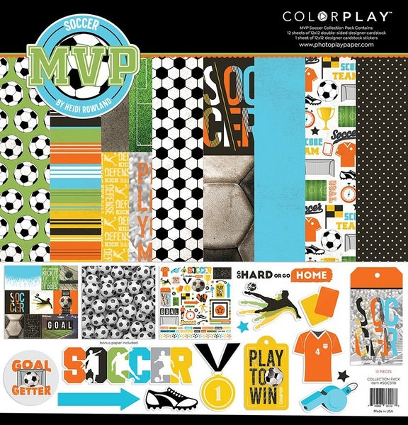 PhotoPlay MVP SOCCER  12 x 12 Collection Pack