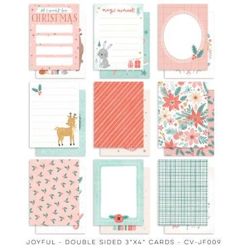 PRE ORDER Cocoa Vanilla Studio JOYFUL Christmas 8 piece Happy Scrappy Bag